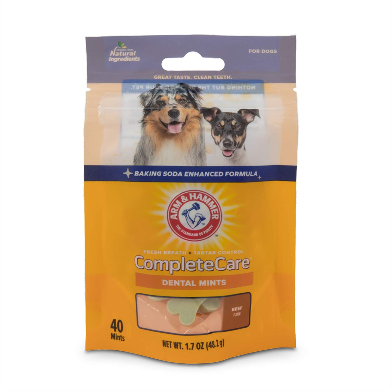Arm & Hammer For Pets Complete Care Pet Dental Mints - Dog Dental Care, Dog Treats, Arm and Hammer Dog Breath Mints, Good Breath Cat Treats, Cat Dental Treat, Cat Mints, Cat Breath Treats, Dental Cat