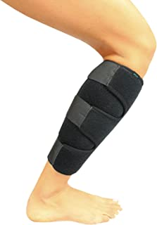 Vive Calf Brace - Adjustable Shin Splint Support - Lower Leg Compression Wrap Increases Circulation, Reduces Muscle Swelling - Calf Sleeve for Men and Women - Pain Relief (Black)