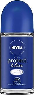 NIVEA Deodorant Roll On, Protect & Care, 50ml