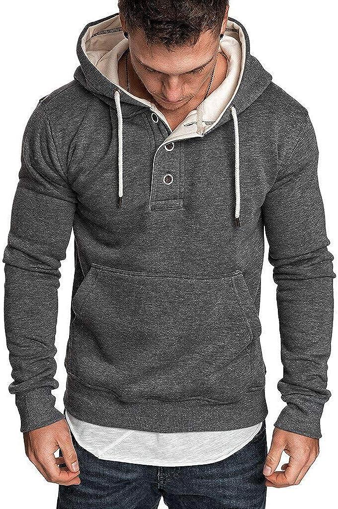Mens Hoodies Button Collar Japan El Paso Mall Maker New Lightweight Casual Slim Long Sleeve S