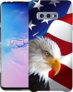 Inkmodo - Designer Hard Case for Galaxy S10 Lite/Galaxy S10E - Bald Eagle USA American Flag Printed Slim Profile Cute Plastic Snap on Back Cover