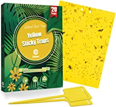 Gideal 20-Pack Dual-Sided Yellow Sticky Traps for Flying Plant Insect Such as Fungus..