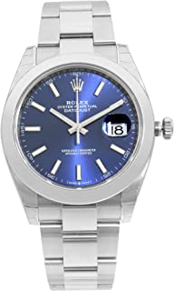 Datejust 41 Blue Dial Stainless Steel Mens Watch 126300BLSO