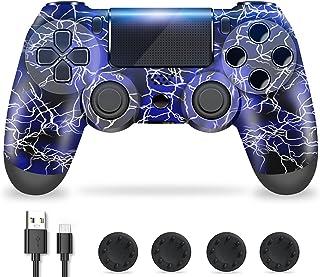 Zcity Controller PS4, PS4 Controller Wireless con Design a Forma di Fulmine, Doppia Vibrazione Gamepads PS4 Joystick Bluet...