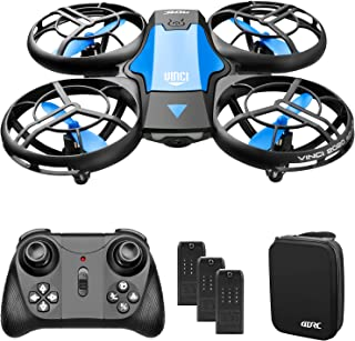 4DRC V8 Mini Drone for Kids Beginners Toy, Hand Operated/Remote Control Quadcopter with 3 Batteries, Altitude Hold, Headle...