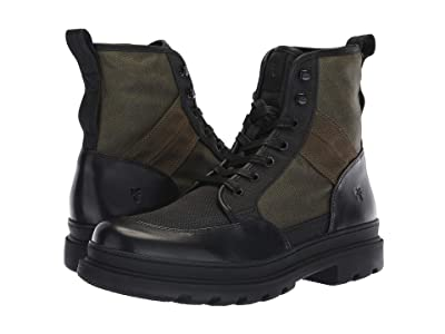Frye Scout Boot (Black Multi Antique Pull-Up/Waxy Canvas) Men