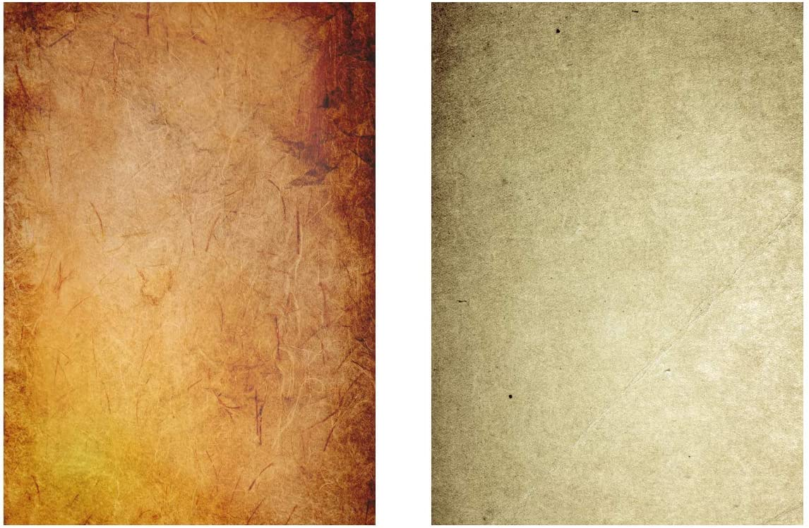 x A4 Vintage Parchment Paper from from Recycled Paper 60 Sheets 6 Designs, 10 of Each 170 GSM