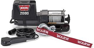 Warn 92000 - Cabrestante eléctrico de 12 V CC montado en vehículo con cable de acero: 1 tonelada (0,9 kg) de capacidad de ...