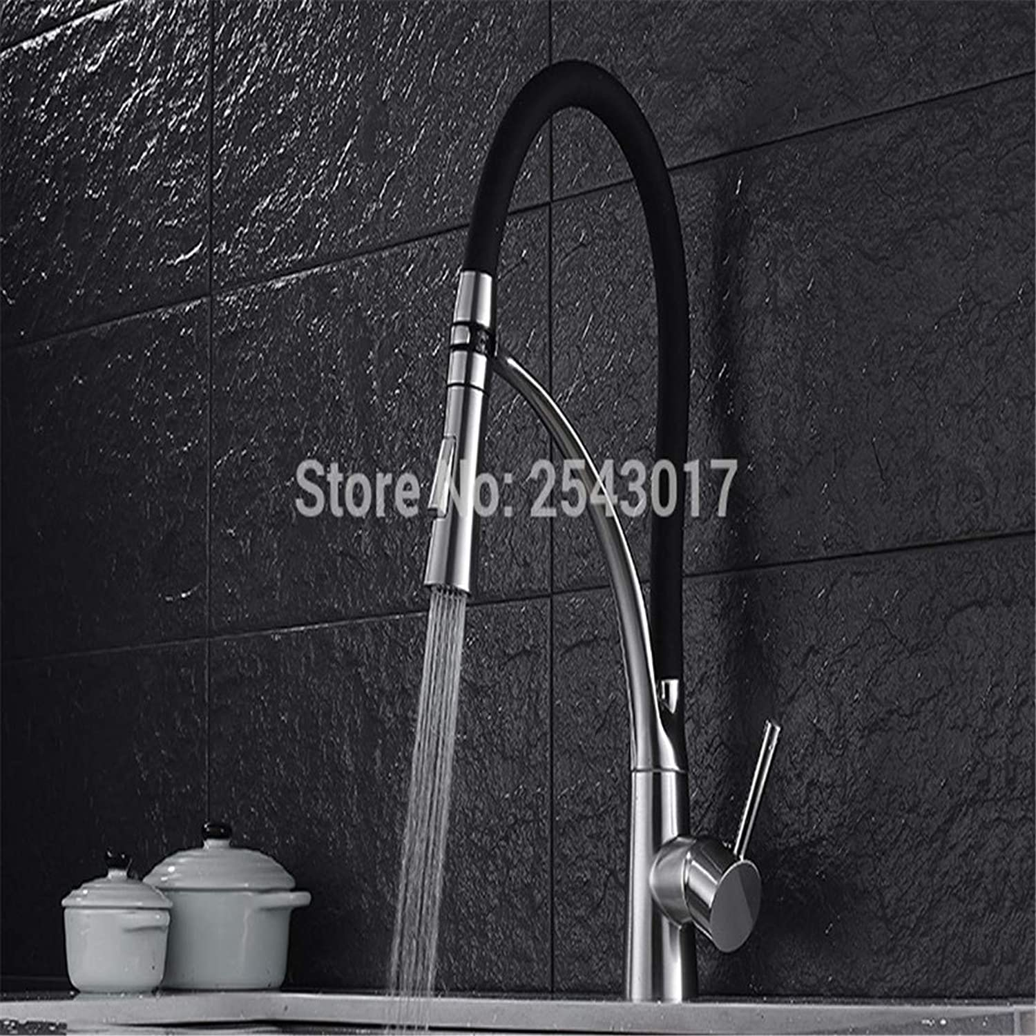 Luxury Modern Hot and Cold Faucet Vintage Platingbrush Nickel Flexible Faucet Mixer Tap Kitchen Pull Faucet