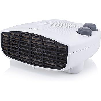 Tristar KA-5046 Calefactor eléctrico con 3 funciones ajustables y termostato regulable, 2000 W, Blanco