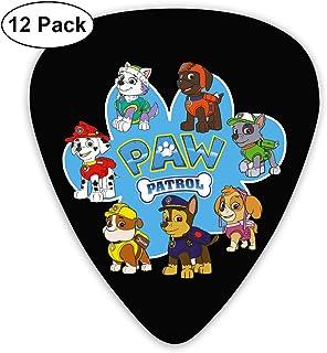 and Guitar Bass Acoustic Guitar for Electric Guitar 12 Pack Mandolin Davida Paw Patrol Celluloid Guitar Picks Plectrums