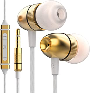 Betron ELR50 Earphones, In Ear Headphones with Mic and Remote Control, Noise Isolating Earbuds, Bass Driven Sound, Premium...