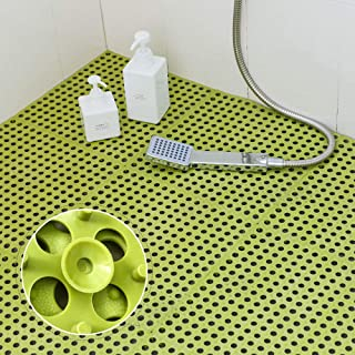 Tiko お風呂マット 滑り止め バスマット 浴室マット キッチンマット 吸盤つき DIY つづり合わせ 風呂 防カビ 転倒防止 介護用 洗濯が便利です 新型