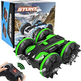 Toy RC Cars/Boat Off Road Remote Control Vehicles for Kids 2.4 GHz 4WD Radio Controlled Truck Stunt Rock Crawler Waterproo...