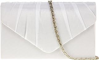 fi9®, Damen-Clutch, Handtasche, Satin, für Party, Ball, Braut, Abendveranstaltungen, Portemonnaie/Handtasche
