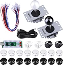 Quimat 2 Player Arcade Joystick and Buttons DIY Kit with Zero Delay USB Encoder Board,Joysticks and Push Button for Mame Jamma & Other Fighting Games,Compatible with Windows and Raspberry Pi