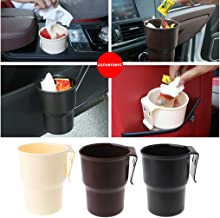 Milue Car Trash Container Drink Bottle Holder Auto Phone Box Car Organizer Accessories (Black)