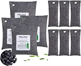KEEOU 10packs Bamboo Charcoal Air Purifying Bags, Efficient Odor Eliminators Natural Activated Charcoal Odor Absorber Air Freshener Moisture Absorber for Home Closet Fridge Car