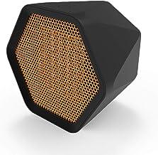 LDIW Mini Hexagonal Calefactor Eléctrico Radiador, Calentamiento Rápido Silence Calefactor Cerámico Termostato Regulable Protección sobrecalentamiento,Negro,US 600W