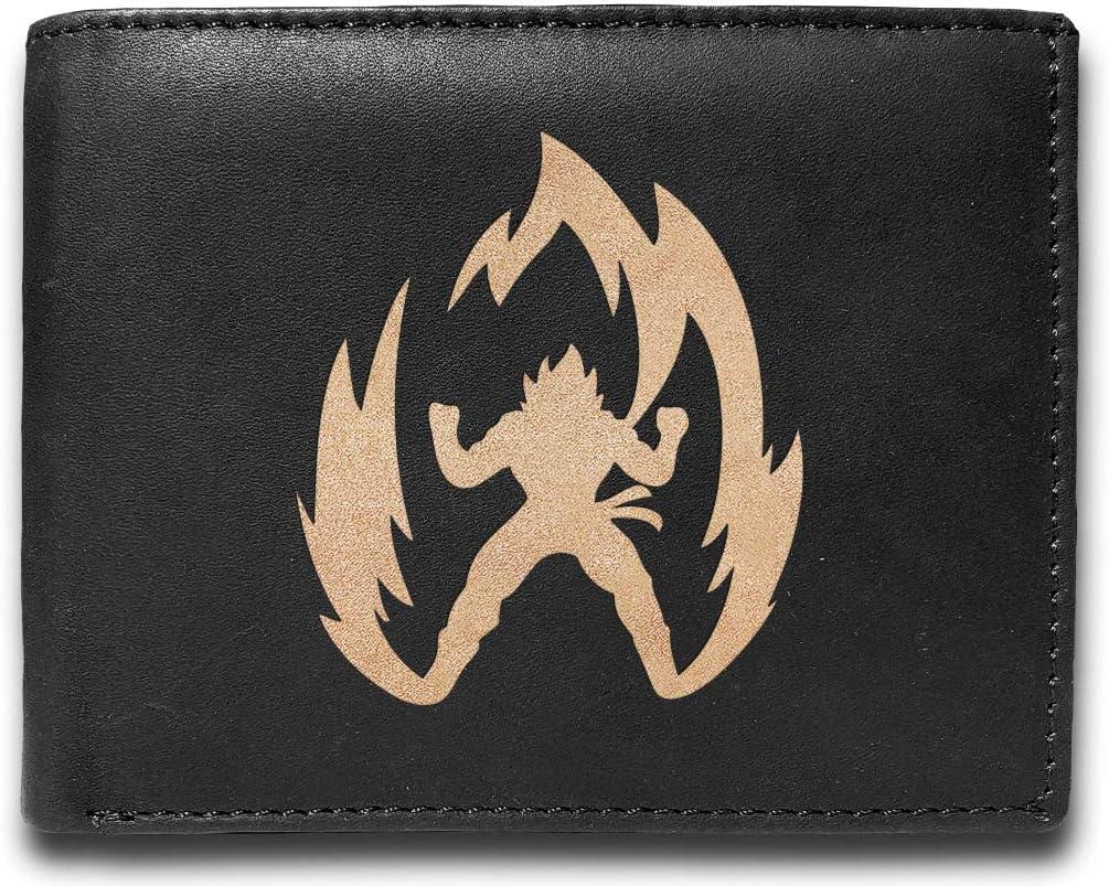 Dragon Ball Z Leather Laser Engraved Minimalist Slim Black RFID Blocking Multi Pockets Credit Card Holder Oraganizer Mens Wallets UD7232