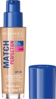 Rimmel London, Match Perfection Foundation, True Beige, 30 ml