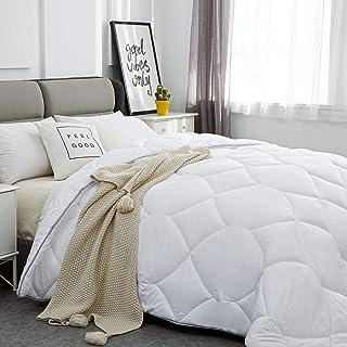 Lipo All Season Duvet Insert Comforter Full - 350 GSM White Down Alternative Duvet Soft Quilted with Corner Tabs - Plush P...