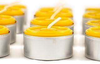 Naturra 20 100% Bienenwachs Teelichter in Handarbeit gegossen - Bienenwachs direkt vom Imker