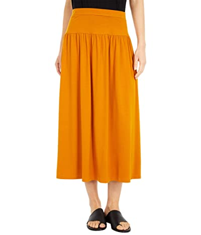 Eileen Fisher Full-Length Flare Skirt (Goldenrod) Women