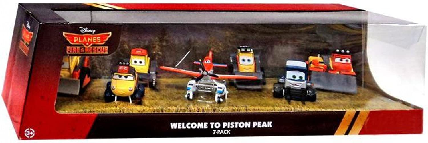 Disney PLANES  Fire & Rescue Exclusive 1 55 Deluxe Die Cast 7Pack Welcome to Piston Peak [Pontoon Dusty, Maru, Dynamite, Pinecone, Avalanche, Drip & Blackout]