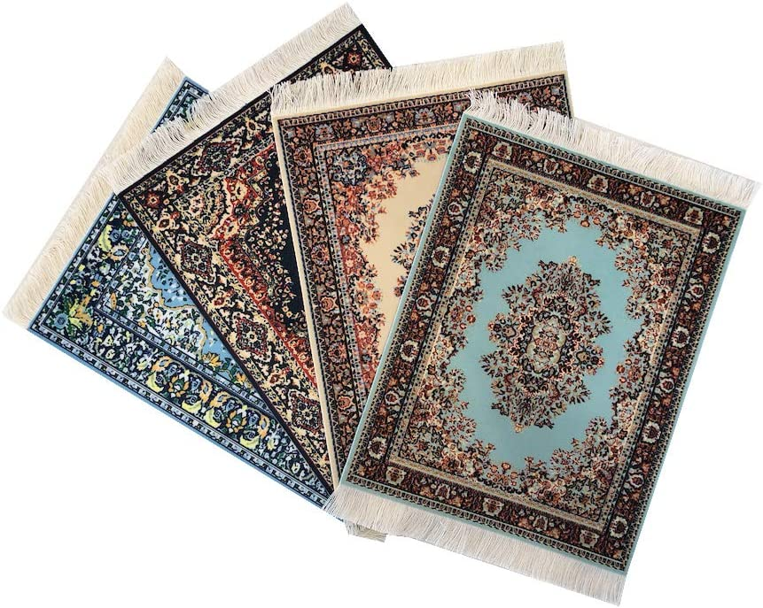 Set Max 79% OFF of 4 Rug Super sale period limited Mouse Pads Ca Miniature Oriental Turkish Design