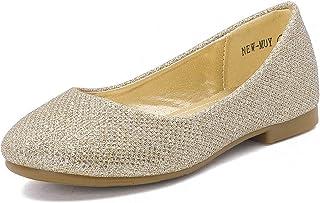 9ef4870f04d0b DREAM PAIRS Muy Girls Dress Shoes Slip on Ballerina Flats(Toddler/Little  Kid/