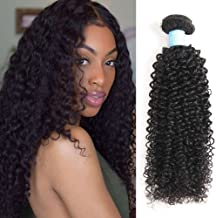BLY 7A Mongolian Virgin Kinky Curly Human Hair Extensions 3 Bundles Unprocessed Curly Weave Natural Black Hair Bundles (20/20/20 Inch)