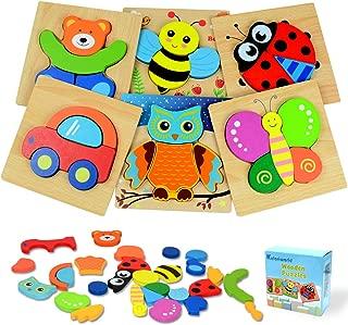 Best wooden puzzles for preschoolers Reviews