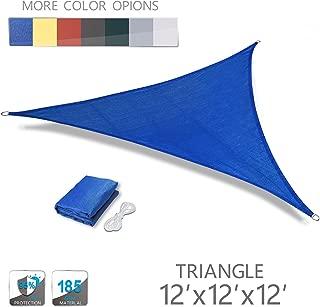 Love Story 12' x 12' x 12' Triangle Blue UV Block Sun Shade Sail Perfect for Outdoor Patio Garden
