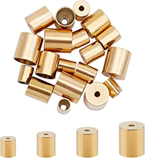 6 mm round leather cord Gold clasp Tip 2 pieces for hole 10