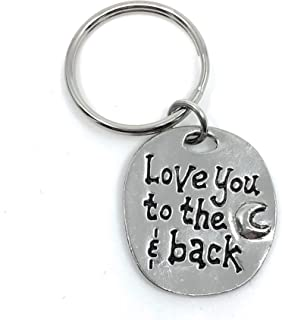 Love You to The Moon and Back Lead Free Pewter Key Ring Charm Gift Box