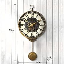 LMZ Wall Clock Wrought Iron Vintage Living Room Clocks Lobby Wall Decoration Metal Wall Clock