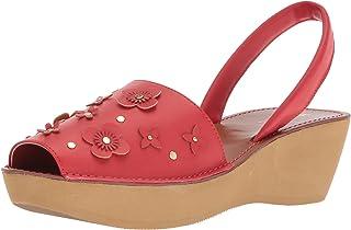 8143f9441ebc Kenneth Cole REACTION Women s Fine Glass Floral Wedge Backstrap Sandal