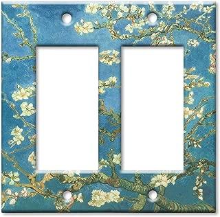 Art Plates - Van Gogh: Almond Blossoms Switch Plate - Double Rocker