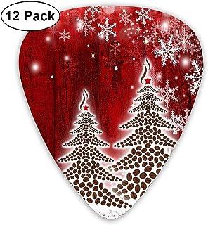 Púas para Guitarra 351 Forma Púas de guitarra clásicas Merry Christmas Tree Winter Snowflake Pine Plectrums Instrumento Standard Bass 12 Pack