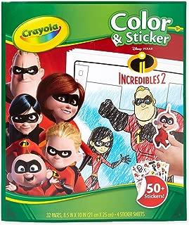 Crayola 04-0356-0-000 Incredibles 2 Colour and Sticker
