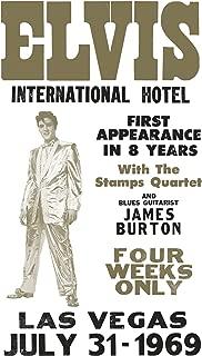 "Elvis Presley International Hotel - Las Vegas, Nevada 13""x22"" Vintage Style Showprint Poster - Concert Bill - Home Nostalgia Decor Wall Art Print"