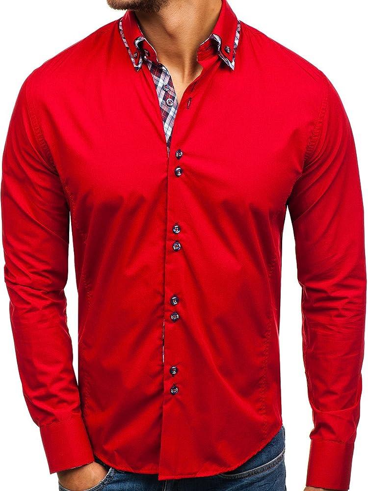Bolf, camicia manica lunga per uomo,80% cotone, 20% poliestere BOLF 6919