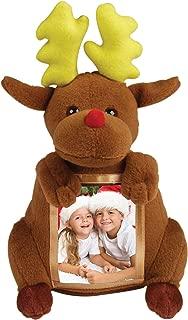 The Keepsake House Christmas Reindeer Plush Picture Frame