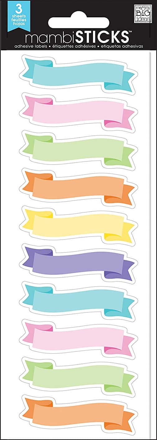 me & my BIG ideas Pastel Banner Label apcwcbayejt585