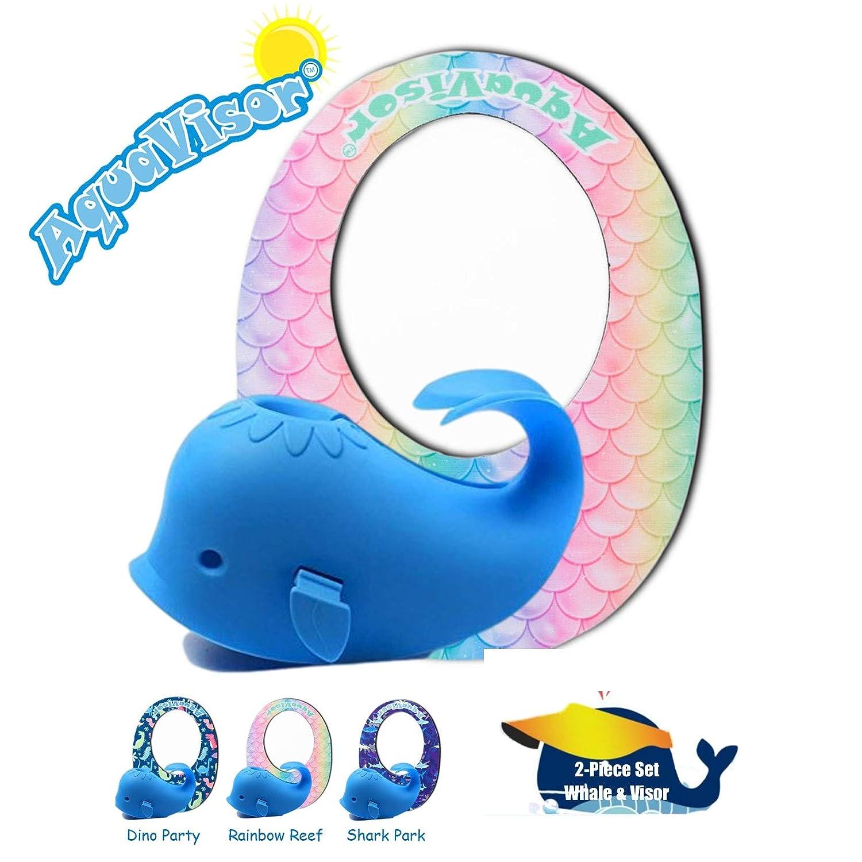AquaVisor Splash! Bathtub Set with Whale Bath Spout Cover + AquaVisor Bath Visor - Bathtub Safety & Fun (2-Piece Set with Faucet Cover + Bath Visor) (Rainbow Reef, Toddler)
