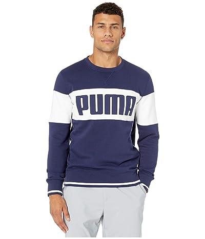 PUMA Golf Logo Crew (Peacoat) Men