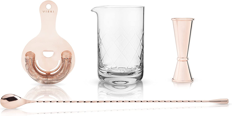 Viski 5427 Summit  Mixologist Barware Gift Set, Set of 1, copper
