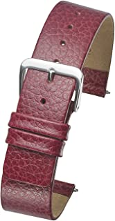 Genuine Leather Watch Band - Smooth Flat Leather Watch Strap 12mm, 14mm, 16mm, 18mm - Black, tan, Burgundy, Pink, Blue, Green, Purple, Yellow