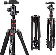 BONFOTO B690A Lightweight Aluminum Tripod Portable Travel Camera Stand with 360 Degree Ball Head and Carry Bag, Tripods fo...